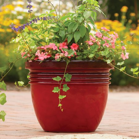 Better Homes And Gardens Bombay Decorative Outdoor Planter Red