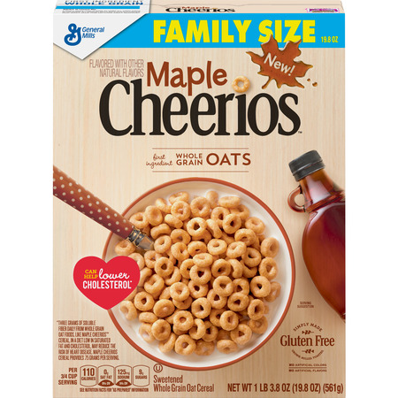 (2 Pack) Maple Cheerios Gluten Free Cereal, 19.8 - 2 Maple T-molding
