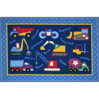 """Fun Rugs Olive Kids Under Construction  39"""" x 58"""" Rug"""