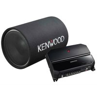 """Kenwood P-W131TB 12"""" Tube Woofer Party Pack (KAC-5207 2-Channel Amp and KFC-W1200T Subwoofer)"""