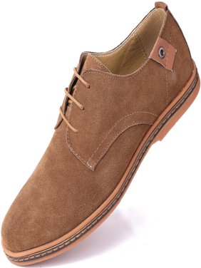Marino Suede Oxford Dress Shoes for Men - Business Casual Shoes - Light Brown- 9.5 D(M) US