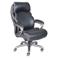 Serta Big and Tall Smart Layers Leather Executive Office Chair with AIR Technology, Tranquility