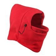 Balaclava Fleece Windproof Ski Mask 2 Pcs,iClover Cold Weather Face Mask Motorcycle Neck Warmer or Tactical Balaclava Hood for Snowboard Cycling Outdoors Sports Unisex-Red