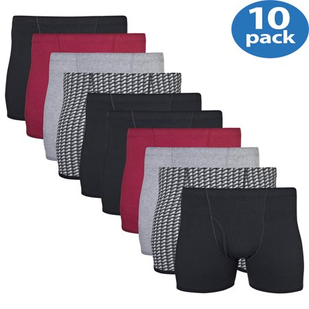 Diesel Mens Briefs - Men's Boxer Briefs With Covered Waistband, 10-Pack