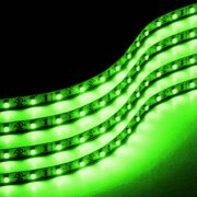 Zone Tech 30cm LED Car Flexible Waterproof Light Strip GREEN pack of 4