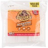 """Gorilla Glue All-Temp Hot Glue Sticks, 4"""" Full Size (.43""""X4"""") 45 Count"""