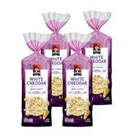 (4 Pack) Quaker Rice Cakes, White Cheddar, 5.5 oz Bag