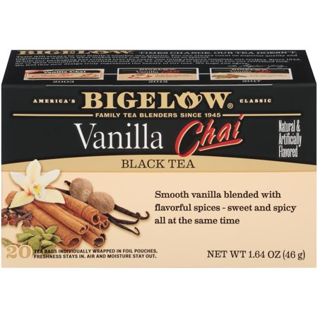 Raspberry Chai Tea - (3 Boxes) Bigelow Vanilla Chai Black Tea, Tea Bags, 20 Ct