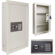 0.8CF Flat Electronic Wall Mounted Safe Hidden Large Jewelry Gun Security White