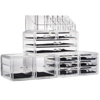 Zimtown Makeup Cosmetic Organizer Storage Drawers Display Boxes Case with 12 Drawers