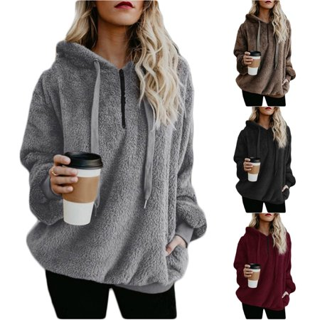 Fortressmount - Sherpa Pullover Hoodie Plus Size 6e38bb8d4