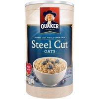 (3 Pack) Quaker Steel Cut Oats, 30 oz Canister
