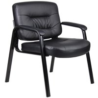 Boss Office & Home Black Executive Mid-back Guest Chair