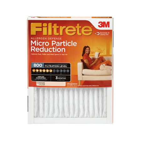 Filtrete 16x25x1, Allergen Defense Micro Particle Reduction HVAC Furnace Air Filter, 800 MPR, 1