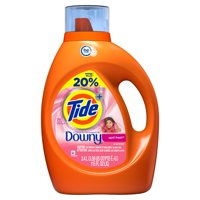 Tide plus Downy, Liquid Laundry Detergent, April Fresh, 60 Loads 115 fl oz