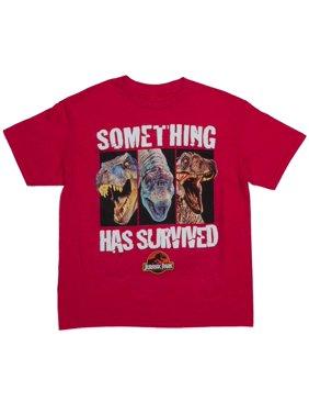 Jurassic World Something Has Survived Short Sleeve Crew Neck Tee Shirt (Little Boys & Big Boys)
