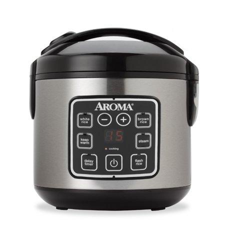 Aroma 8 Cup Digital Rice Cooker And Food Steamer Walmartcom