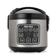 Aroma 8 Cup Programmable Rice Cooker & Steamer, 3 Piece Set