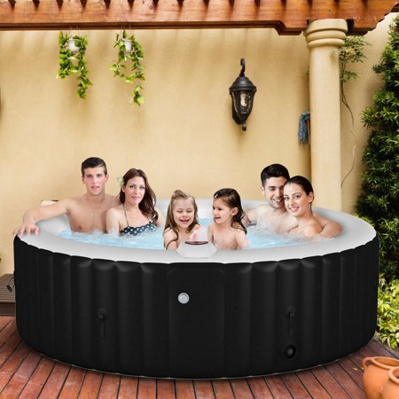 Portable Inflatable Bubble Massage Spa Hot Tub 6 Person