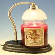 Aurora Pewter Candle Warmer Gift Set - Warmer and Courtneys 26oz Jar Candle - SPICED PUMPKIN