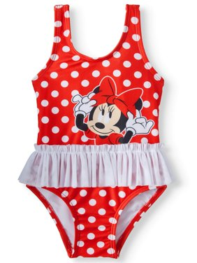 Baby Girls' Minnie Mouse Polka Dot Tutu One Piece Swimsuit