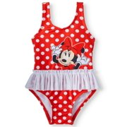 1b8913df0a Baby Girls' Minnie Mouse Polka Dot Tutu One Piece Swimsuit