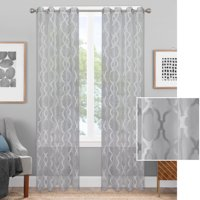 Better Homes & Gardens Sheer Lattice Ogee Window Curtain Panel