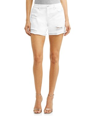 Lila Destroyed Relaxed Jean Short Women's (White)