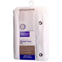 """Better Homes and Gardens Ultimate Shield Shower Liner, 70"""" x 72"""", White"""
