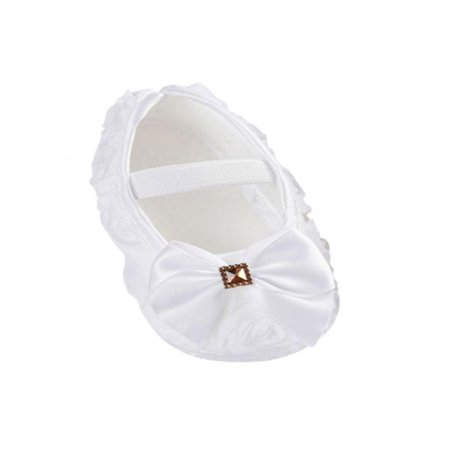 Nicesee Newborn Infant Baby Girl Bowknot Soft Sole Crib Shoes Prewalker 0-18 -
