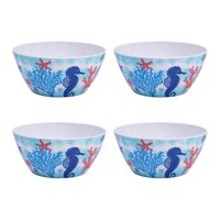 Mainstays Sealife Melamine Bowl, Set of 4