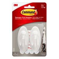 Command Quartz Terrace Hook, Medium, 2 Hooks, 4 Strips/Pack