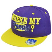 Marshmallow Where My Peeps Candy Brand Chicks Flat Bill Snapback Novelty Hat  Cap 27d3bf6e17aa