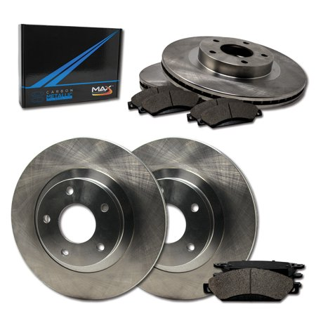 Max Brakes Front & Rear Premium Brake Kit [ OE Series Rotors + Metallic Pads ] TA107743 | Fits: 2015 15 Volvo V60 Cross Country 316mm Diameter Front Rotor With Rear Solid Rotor - image 8 of 8