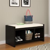 Ameriwood Home Penelope Entryway Storage Bench with Cushion, Espresso