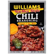 Williams Chili Seasoning, Tex Mex Style, 1 Oz