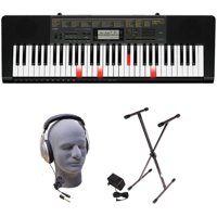 Casio LK-265 PPK 61-Key Premium Lighted Keyboard Pack with Stand, Headphones & Power Supply