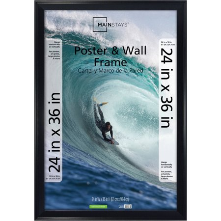 Mainstays 24x36 Casual Poster and Picture Frame, Black - Bubble Photo Frames