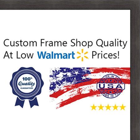 20x40 20 X 40 Charcoal Flat Solid Wood Frame With Uv Framers