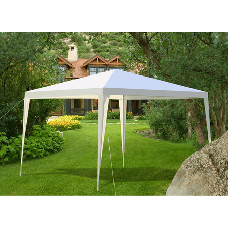 Gymax Outdoor Heavy Duty 10'x10' Canopy Party Wedding Tent Gazebo Pavilion Cater (Best Easy Up Canopy)