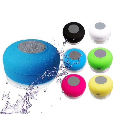 Waterproof Speaker Case - Bluetooth Waterproof Wireless Speaker Suction Shower speaker Hands free Mic