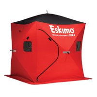 Eskimo QuickFish3 Insulated 3-Person Pop Up Ice Fishing Shanty Shack Shelter Hut