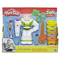Play-Doh Disney Pixar Toy Story Buzz Lightyear Set with Buzz Figure & 5 Cans of Dough