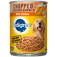 (4 Pack) PEDIGREE Chopped Ground Dinner With Chicken Adult Canned Wet Dog Food, 13.2 oz. Can
