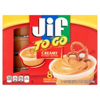 (24 Cups) Jif To Go Creamy Peanut Butter, 1.5 oz cups
