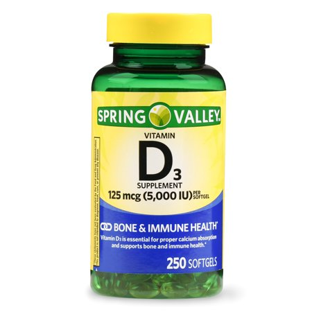 spring valley vitamin d3 softgels 5000 iu 250 ct. Black Bedroom Furniture Sets. Home Design Ideas