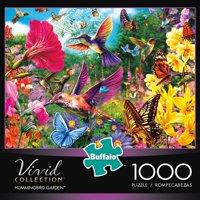 1000-Piece Vivid: Hummingbird Garden Puzzle