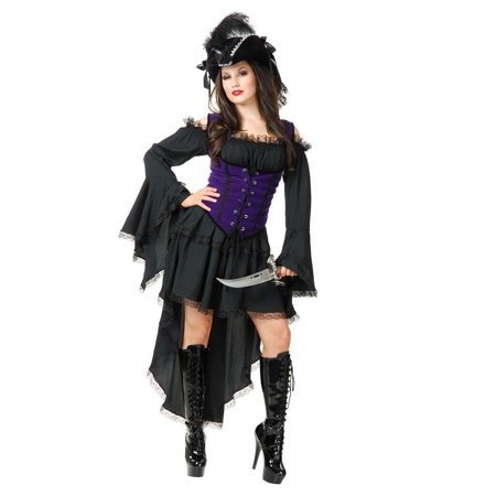 Halloween Black Pearl Pirate Lady Adult Costume