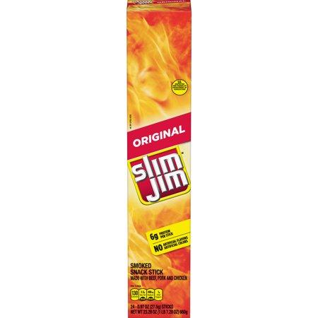 Slim Jim Giant Smoked Meat Stick, Original Flavor, .97 Oz. 24-Count](Slim Jim Guy)