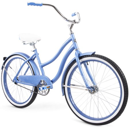 "Huffy 24"" Cranbrook Womens Comfort Cruiser Bike, Periwinkle Blue (Electra Womens Cruiser)"